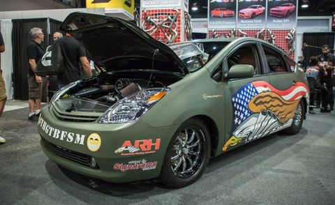 Hellcat-Powered Toyota PriuSRT8 Is a Rolling Middle Finger