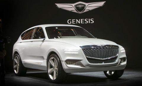 Land vehicle, Vehicle, Car, Automotive design, Mid-size car, Concept car, Grille, Personal luxury car, Auto show, Luxury vehicle,