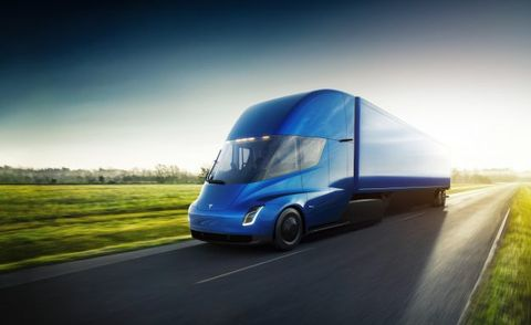 Revolutionary Electric Tesla Semi Unveiled Due In 2019 News Car And Driver