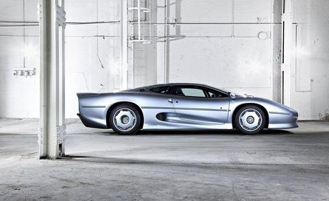 Land vehicle, Vehicle, Car, Supercar, Automotive design, Sports car, Jaguar, Jaguar xj220, Luxury vehicle, Performance car,