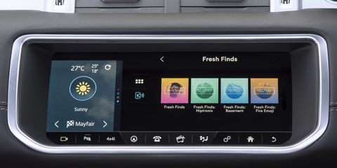 Multimedia, Vehicle, Car, Technology, Electronics, Electronic device, Range rover, Auto part, Display device, Sport utility vehicle,