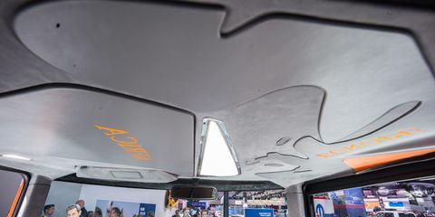 Transport, Mode of transport, Ceiling, Automotive design, Design, Vehicle, Architecture, Bus, Automotive exterior, Car,