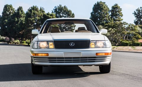 Land vehicle, Vehicle, Car, Sedan, Luxury vehicle, Automotive exterior, Lexus, Bumper, Full-size car, Lexus ls,