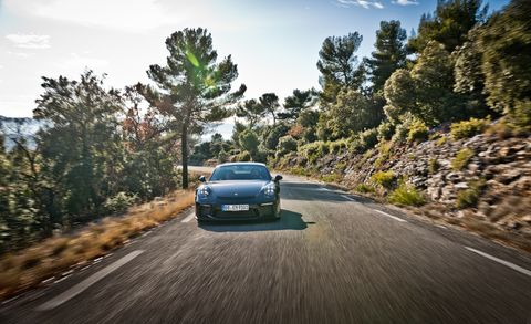 Land vehicle, Vehicle, Car, Luxury vehicle, Performance car, Road, Tree, Road trip, Family car, Asphalt,