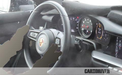 Land vehicle, Vehicle, Car, Steering wheel, Steering part, Luxury vehicle, Gauge, Porsche, Porsche 911 gt3, Plant,