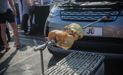 Dog, Roasting, Vehicle, Canidae, Car, Food, Cuisine, Dish, Metal,