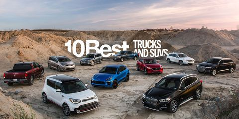 Car And Driver 10 Best >> And The Winners Are 2018 10best Trucks And Suvs In Pictures