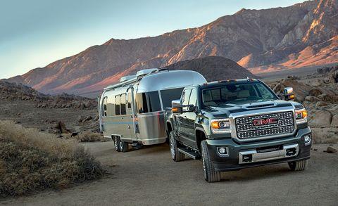 Land vehicle, Vehicle, Car, Mountainous landforms, Gmc, Transport, RV, Automotive tire, Landscape, Truck,
