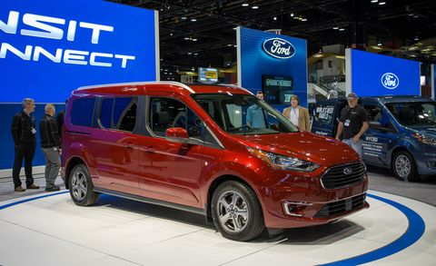 Land vehicle, Vehicle, Car, Van, Auto show, Ford motor company, Ford, Motor vehicle, Ford tourneo, Automotive wheel system,