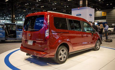 Land vehicle, Vehicle, Car, Motor vehicle, Van, Auto show, Compact van, Microvan, Minivan, Ford tourneo,