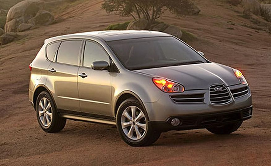 Subaru B9 Tribeca (2007–2014) Subaru claimed the B9 Tribeca 's front-end design was inspired by Alfa Romeo race cars of the 1930s. And you could see the resemblance if you squinted really, really hard.