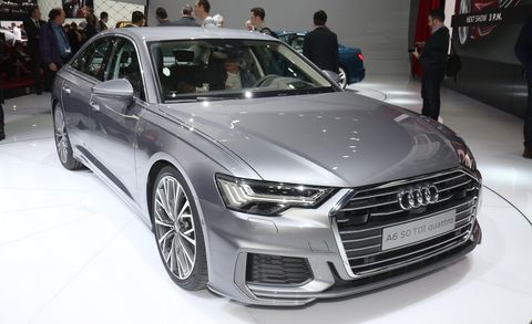 Land vehicle, Vehicle, Car, Auto show, Automotive design, Audi, Executive car, Motor vehicle, Audi a6, Mid-size car,
