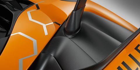 Vehicle, Automotive design, Car, Orange, Concept car, Carbon, Supercar, Sports car,