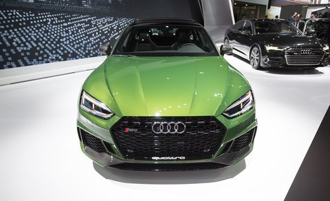 Land vehicle, Vehicle, Car, Motor vehicle, Automotive design, Auto show, Audi, Grille, Performance car, Sports car,