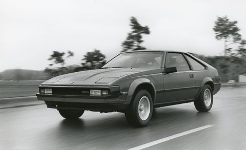 1983 Toyota Supra driving