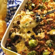 cheesy bacon brussels sprout gratin for kerrygold