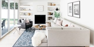 Living room, Furniture, Room, White, Interior design, Property, Coffee table, House, Home, Table,
