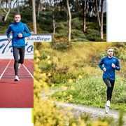 Sports, Running, Blue, Outdoor recreation, Athlete, Long-distance running, Recreation, Endurance sports, Individual sports, Athletics,
