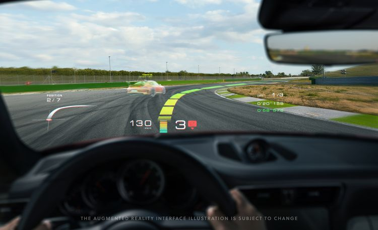 Porsche Invests to Get Bigger, Better Augmented-Reality Head-Up Displays in Future Cars