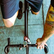 Cyclist in the gym