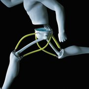 Human leg, Joint, Elbow, Wrist, Knee, Bicycle handlebar, Toy, Safety glove, Ankle, Glove,