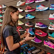 Specialty running shoe store