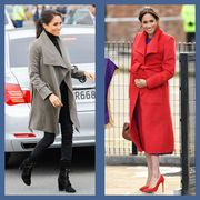 11 times meghan markle looked stunning in a wrap coat