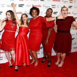 Red, Dress, Carpet, Red carpet, Premiere, Event, Cocktail dress, Flooring, Smile,