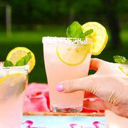 Drink, Food, Non-alcoholic beverage, Lemonade, Cocktail garnish, Juice, Lemon-lime, Alcoholic beverage, Paloma, Cocktail,