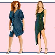 Clothing, Dress, Fashion model, Day dress, Fashion, Pattern, Pattern, Fashion design, Shoulder, Footwear,