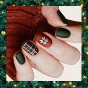 Nail polish, Nail, Manicure, Green, Nail care, Cosmetics, Finger, Hand, Design, Material property,