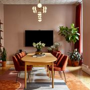 Room, Furniture, Interior design, Dining room, Property, Building, Table, Living room, Ceiling, House,