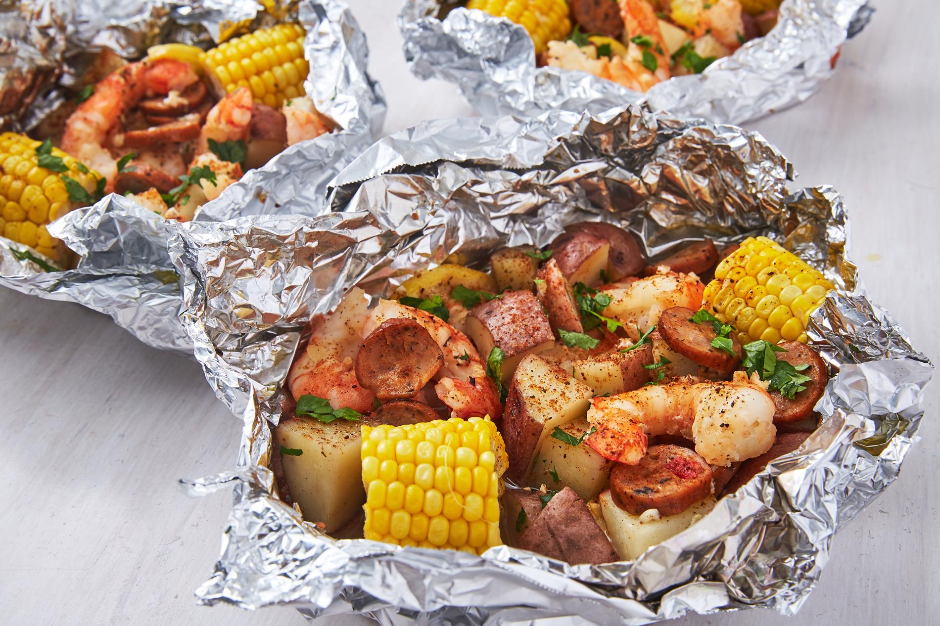 Baked Shrimp foil