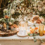 Centrepiece, Peach, Floral design, Spring, Flower Arranging, Flower, Table, Brunch, Floristry, Plant,