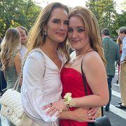 brooke shields daughter prom dress