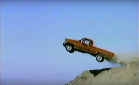 Ranger Cliffhanger? This Old Ford Commercial Sees a Ranger BASE Jump, Ford Tough Style