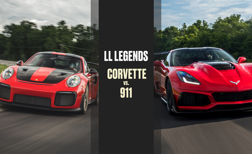 Lightning Lap Legends: Chevrolet Corvette vs. Porsche 911! - Slide 1