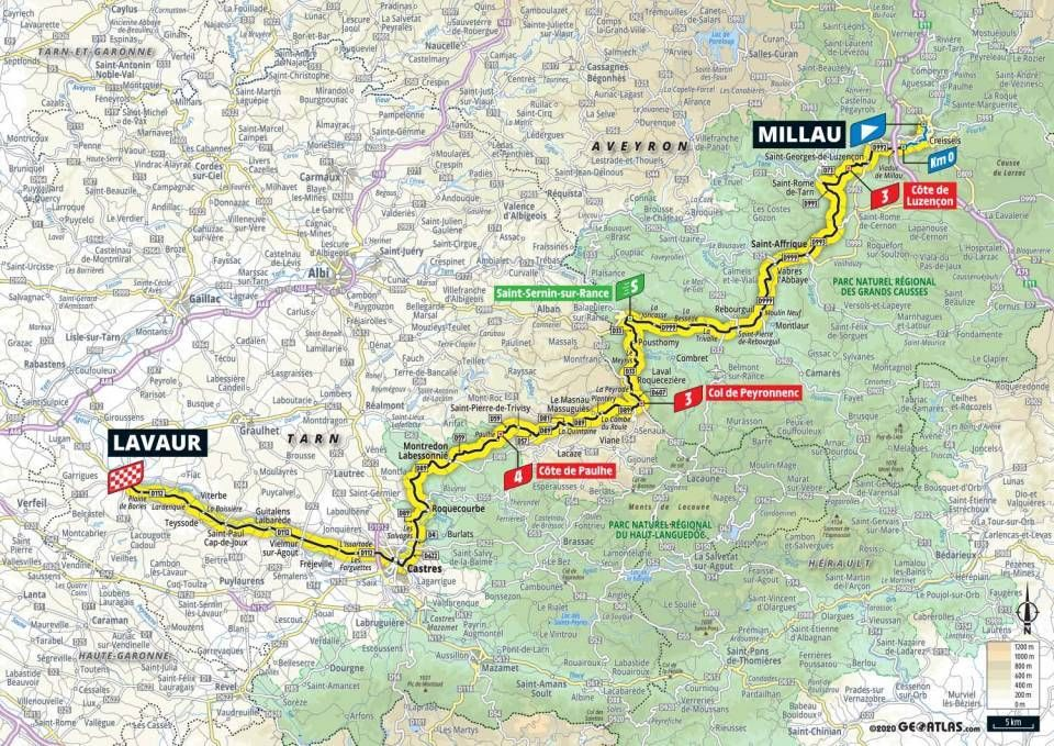 tour de france stage 7 map