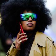Hair, Afro, Eyewear, Hairstyle, Glasses, Sunglasses, Cool, Black hair, Fashion, Lip,