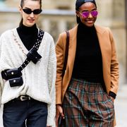 Eyewear, Fashion, Street fashion, Clothing, Plaid, Sunglasses, Tartan, Outerwear, Fur, Glasses,