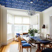 Room, Ceiling, Interior design, Property, Furniture, Dining room, Building, Blue, Wall, Living room,