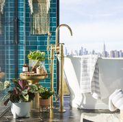 Blue, Room, Property, Interior design, Real estate, Building, Design, Architecture, Furniture, Floor,