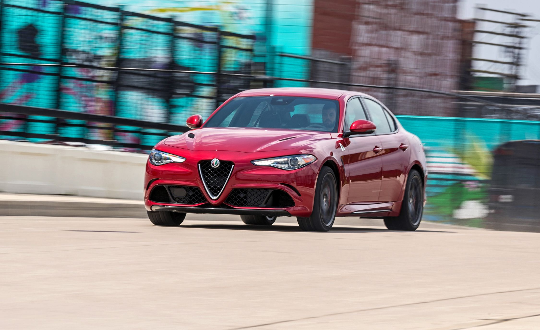 2018 Alfa Romeo Giulia Quadrifoglio Long Term Test Kicking f