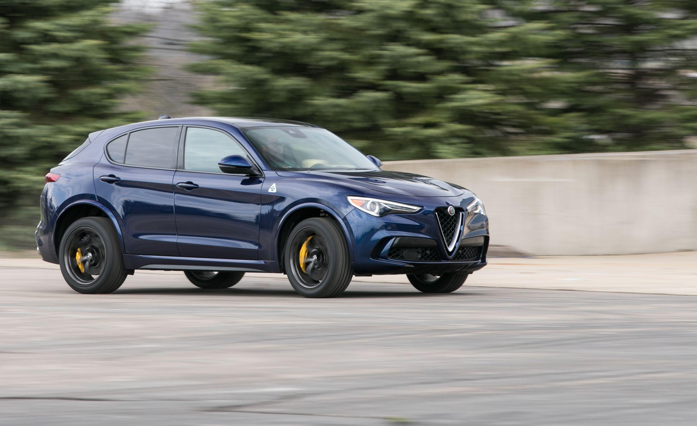 The 2018 Alfa Romeo Stelvio Quadrifoglio Thinks It's a Sports Sedan