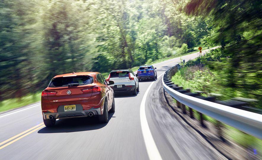 2019 Volvo XC40 T5 AWD, 2018 BMW X2 xDrive28i, and 2018 Jaguar E-Pace P250 AWD - Slide 2