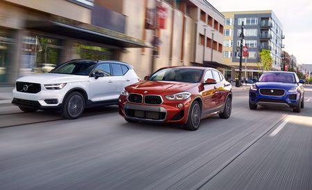 BMW X2 xDrive28i vs. Jaguar E-Pace P250 AWD, Volvo XC40 T5 AWD