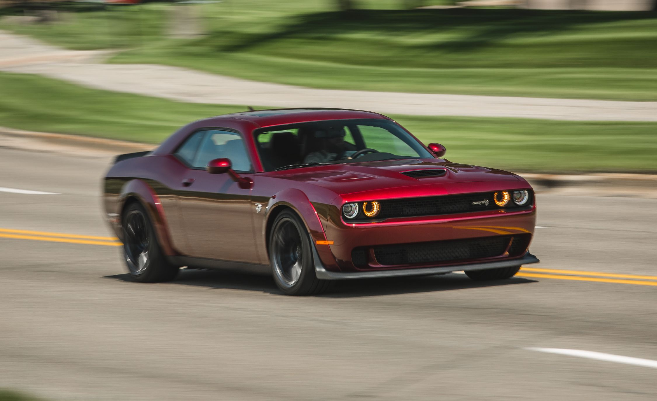 2018 Dodge Challenger Srt Hellcat Widebody Manual Test Hell With A Stick Review Car And Driver