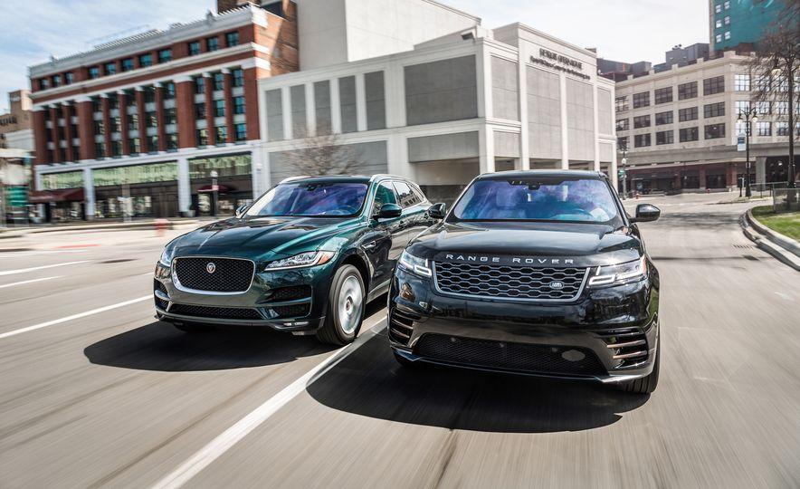 2018 Jaguar F-Pace 30t and 2018 Land Rover Range Rover Velar P250 - Slide 1