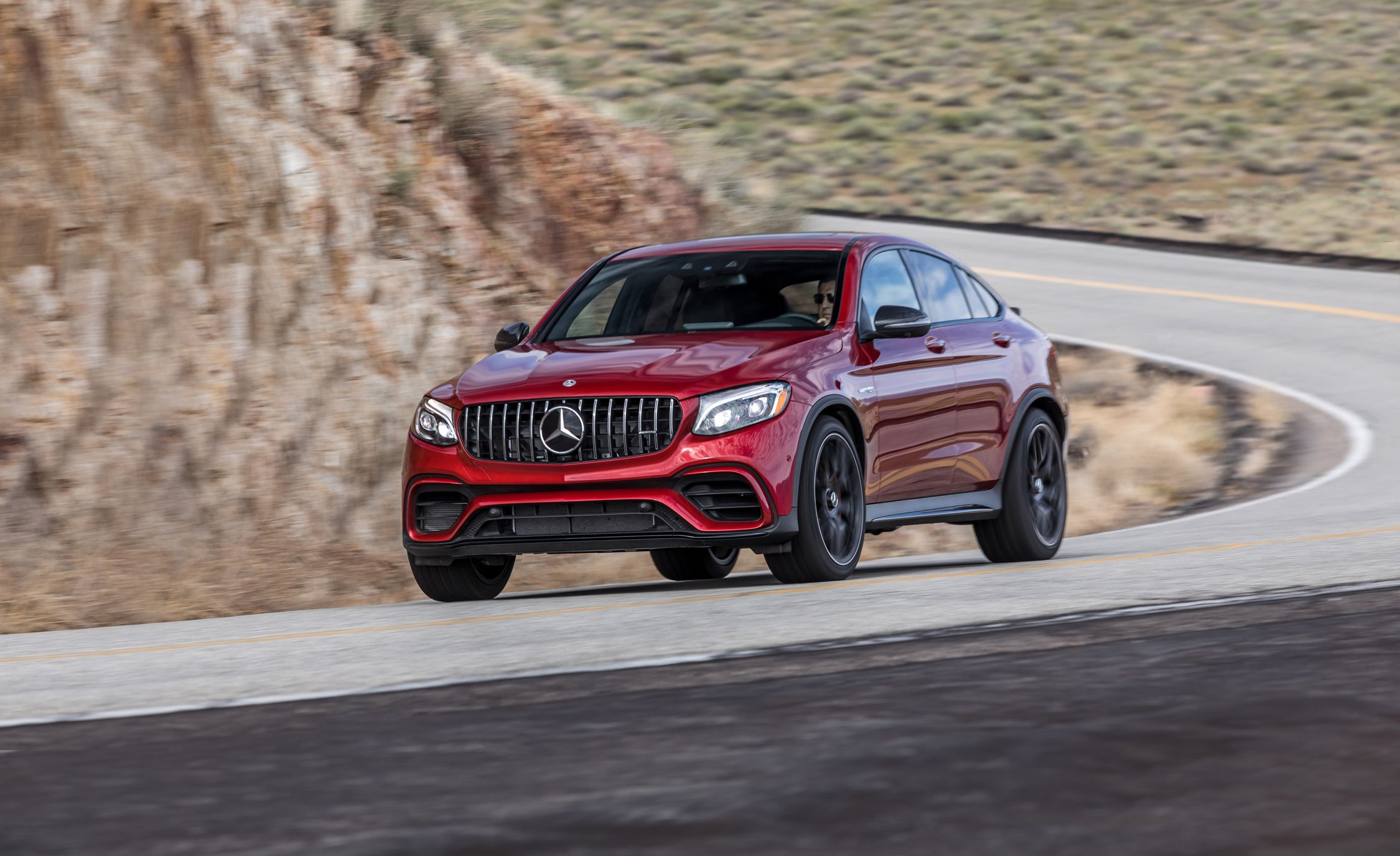 2018 Mercedes Amg Glc63 S Coupe Test One Wicked Quick Grocery Fetcher Review Car And Driver