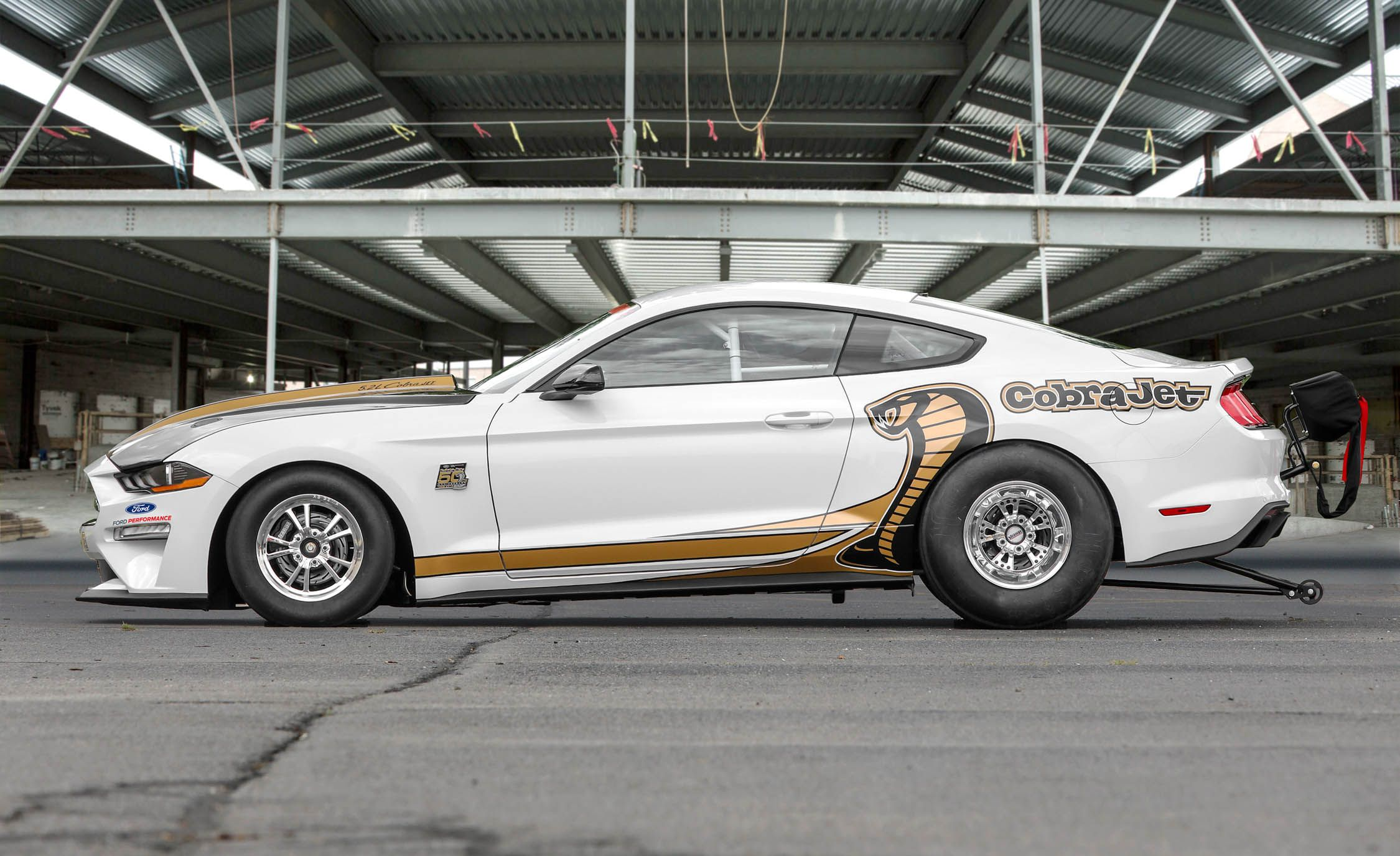 Eight-Second 2018 Mustang Cobra Jet Debuts on Woodward, Must Be Trailered There